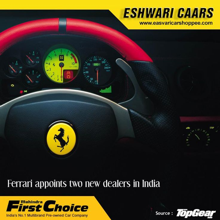 Ferrari appoints two new dealers in India  Yes, we know there has been a Ferrari dealership in New Delhi for a couple of years now, thanks to Shreyans Motors. But it looks like Ferrari is making a re-entry in the Indian market through two new distribution channels.  http://www.topgear.com/india/car-news/ferrari-comes-to-india-officially/itemid-50