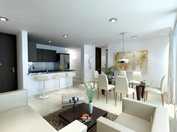 20 best Sala images on Pinterest Small spaces, Living room ideas - sala comedor pequeo