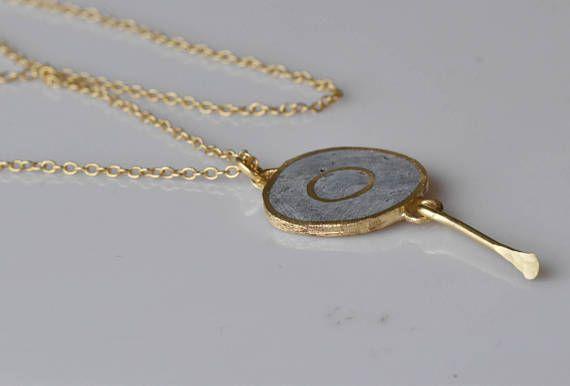 Concrete necklace Concrete chain Short necklace Industrial