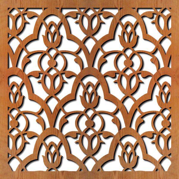 Moorish Leaves: wood room divider