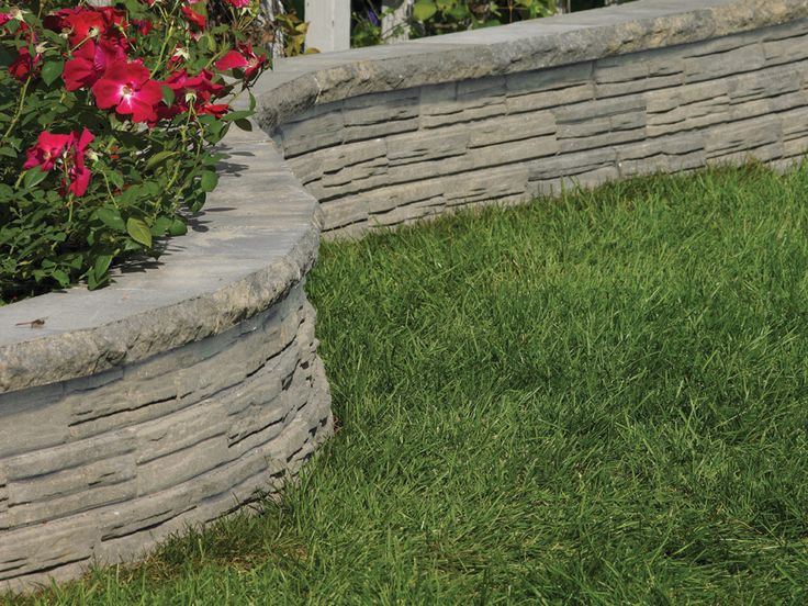 natural impressions flagstone concrete retaining wall on wall blocks id=64008