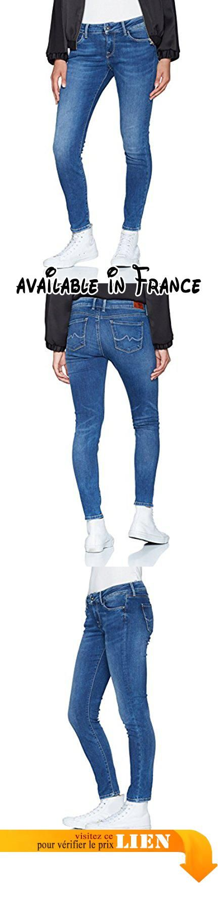 Pepe Jeans Soho, Jeans Femme, Bleu (Denim) W33/L28 (Taille fabricant: 33). 98% coton, 2% élasthanne. Lavage en machine 40° C. Fermeture : bouton #Apparel #PANTS