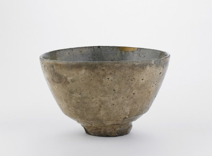An example of Japanese Hagi stoneware and classic Wabi Sabi design - valued for its imperfect form and colours that are gradually transformed with use.