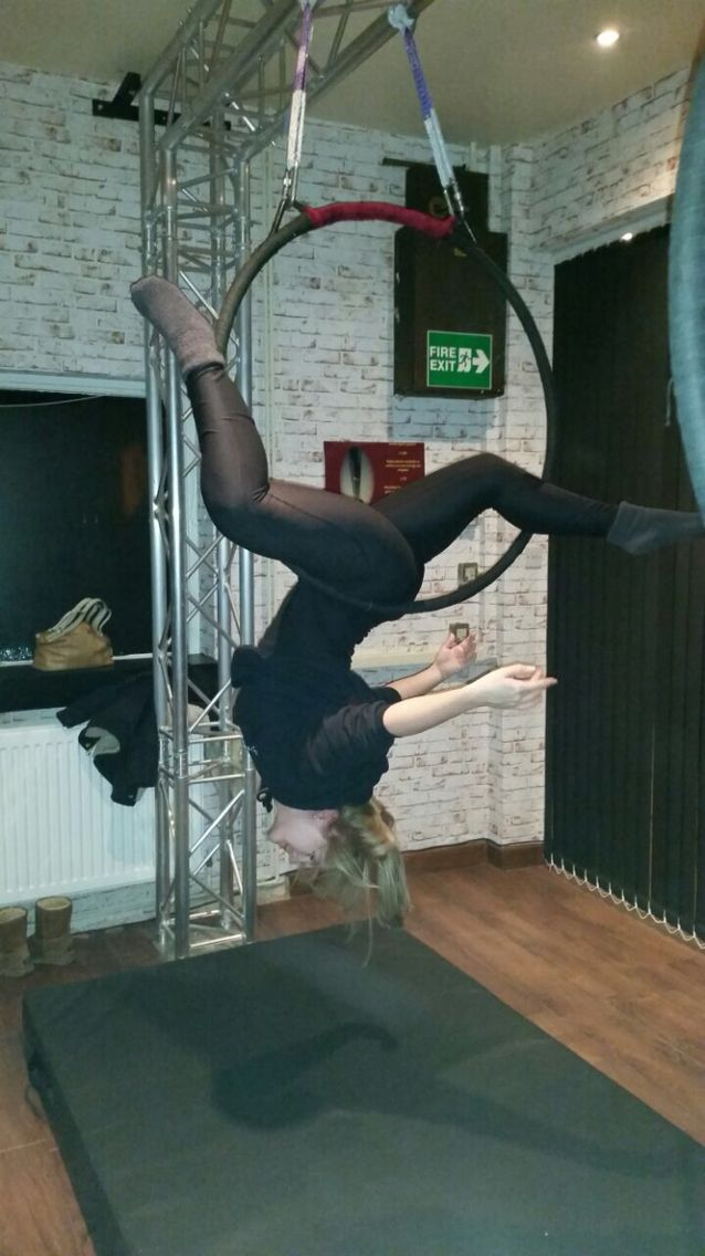 French Gazelle on aerial hoop. Love this!