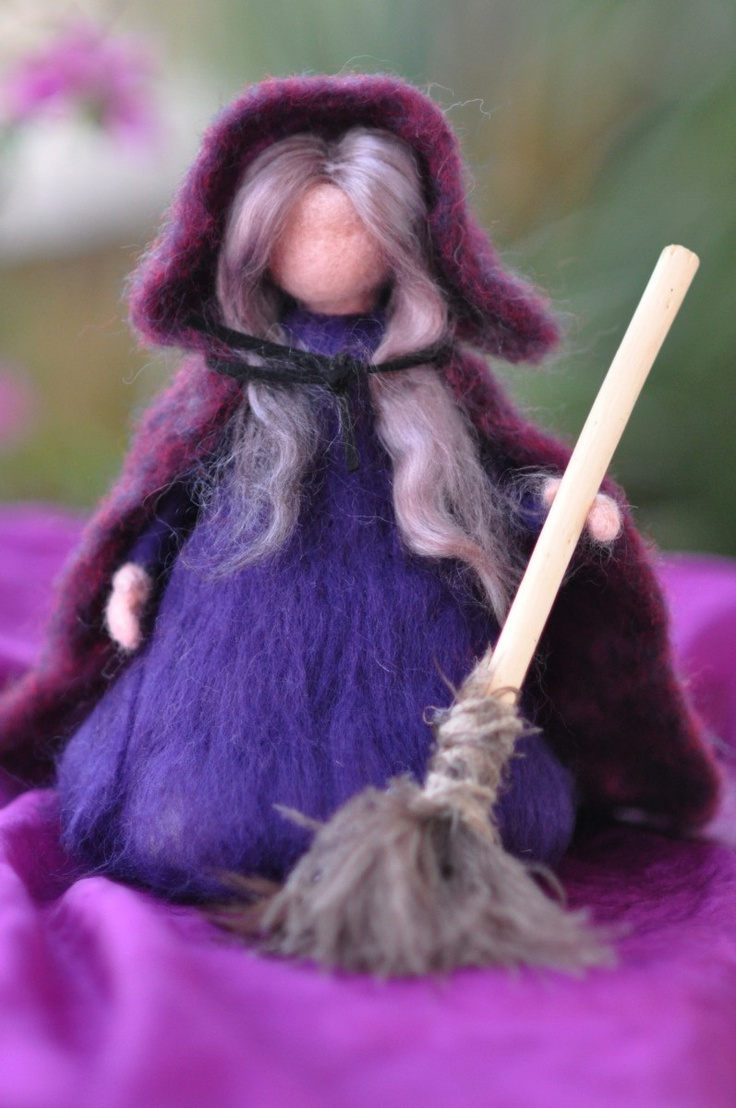 Needle felted Halloween Witch