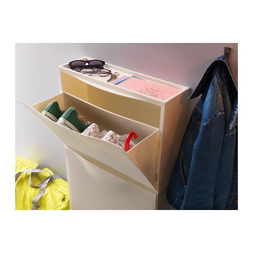 TRONES Shoe/storage cabinet IKEA The shallow cabinet takes up little space, and is ideal for storing shoes, gloves and scarves.