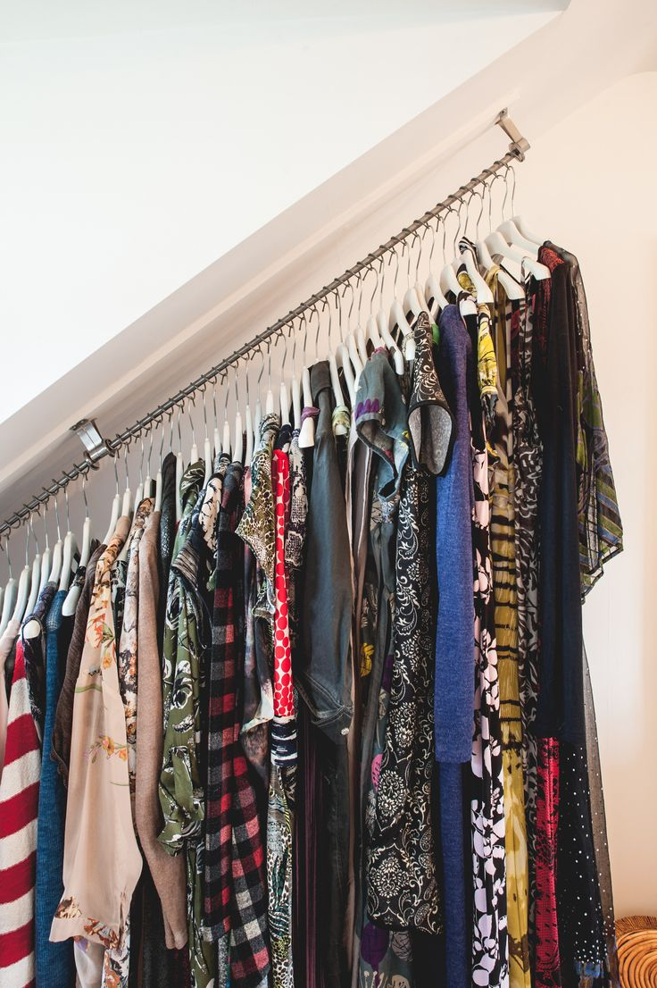 Zebedee Hanging Rail allows clothes to be hung at an angle! Amazing!