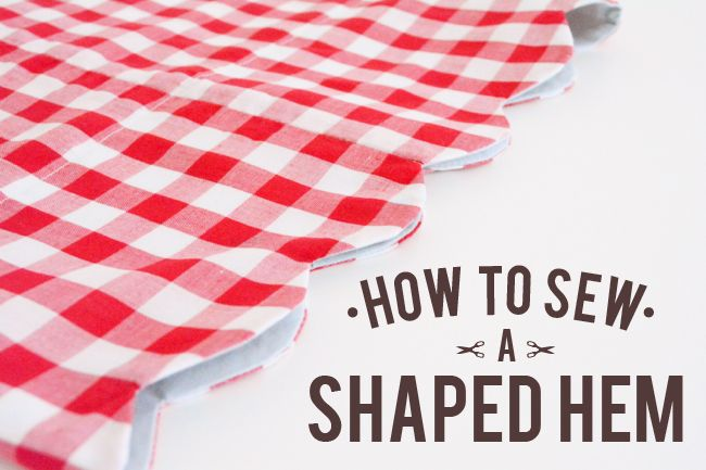 How to sew a scalloped hem