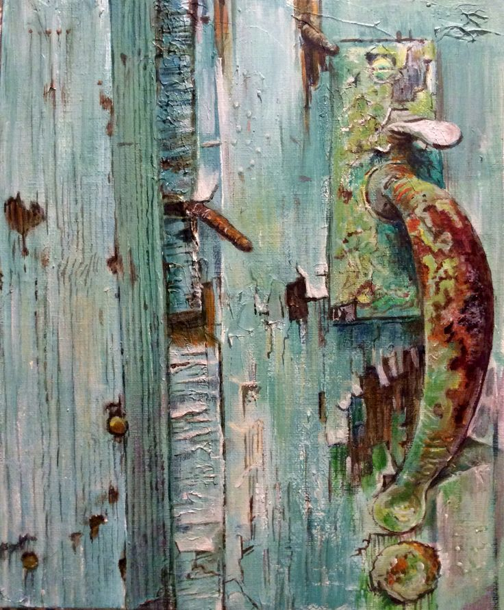 Latch Door Acrylic Painting By Glyn Overton 9th February