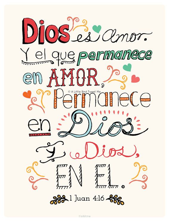Dios es amor | frases | Pinterest | Bible, Fe and Verses