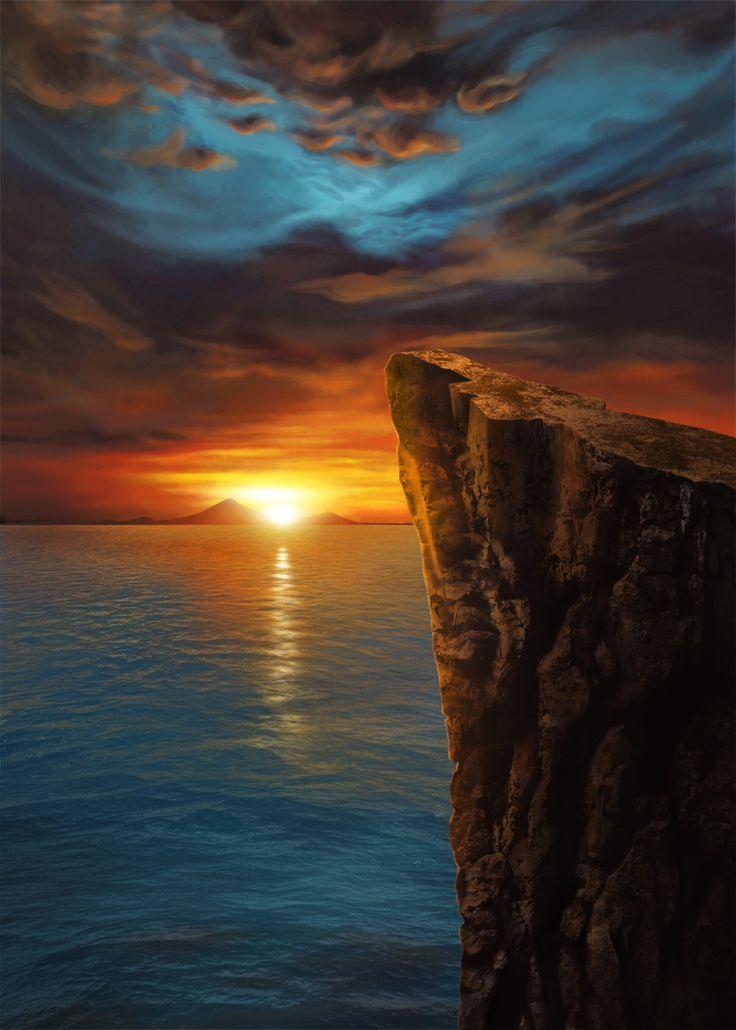Sunset Sea CG Illustrate
