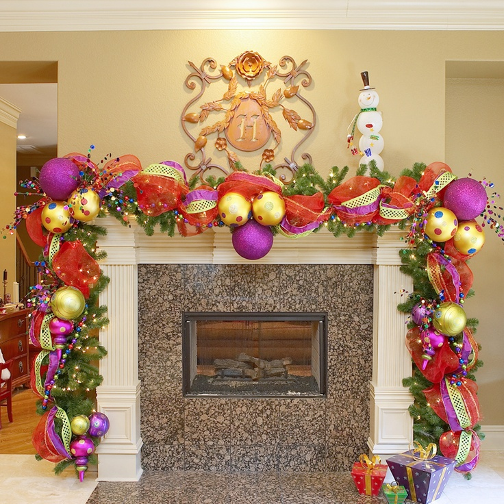 Fireplace decorated for Christmas, so doing this!