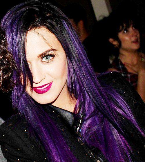 Purple & black hair