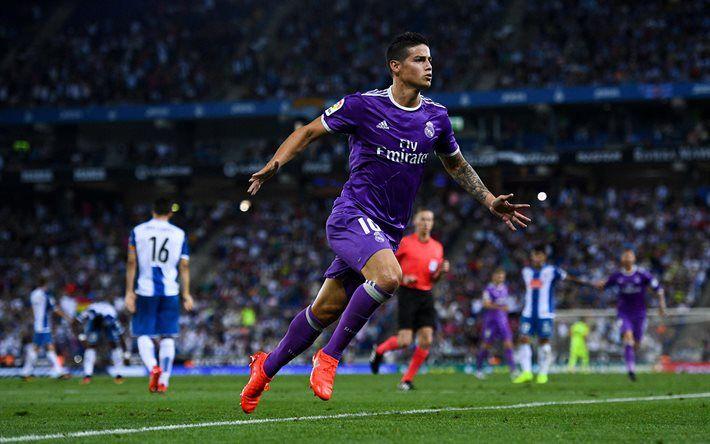 James Rodriguez, goal, football stars, Real Madrid, footballers, La Liga