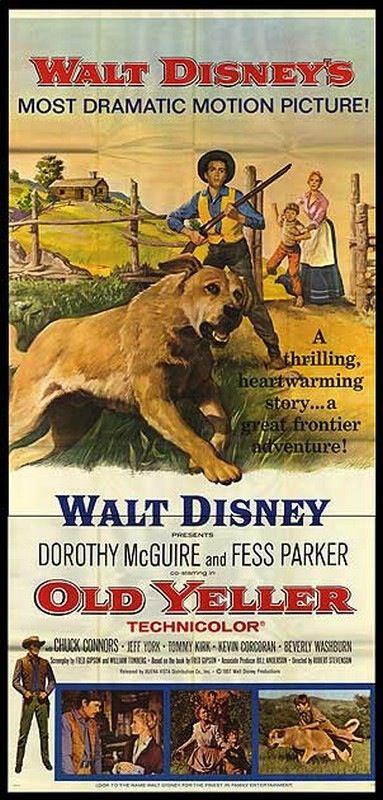 Old Yeller (1957) Dorothy McGuire, Fess Parker, Kevin Corcoran, Tommy Kirk, Spike