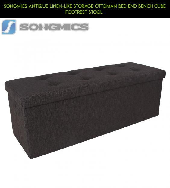 SONGMICS Antique Linen-like Storage Ottoman Bed End Bench Cube Footrest  Stool #ottoman # - 25+ Best Ideas About Ottoman Bed On Pinterest Extra Bed, Spare