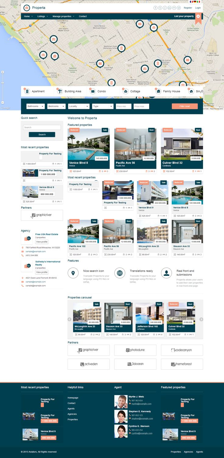 blue, listing, grid, real estate, drupal