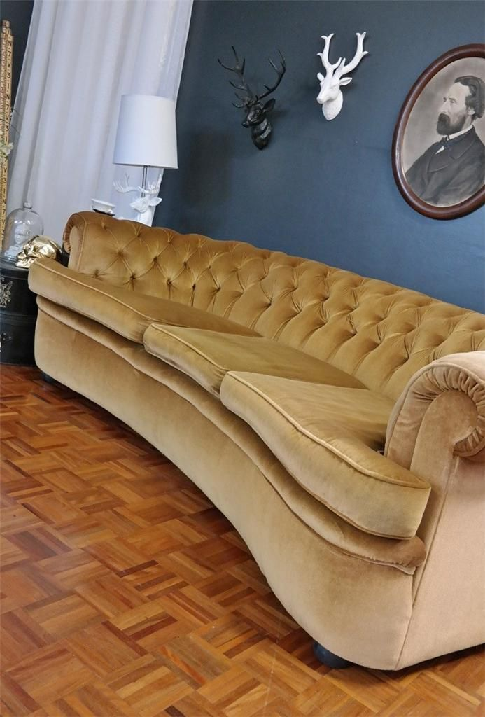 Gorgeous gold chesterfield