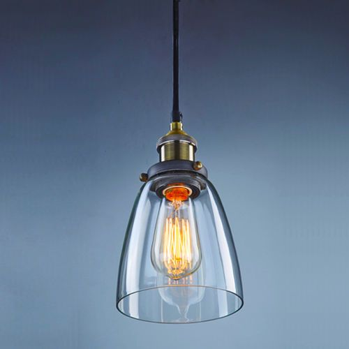 Vintage-Industrial-Pendant-Light-Glass-Lampshade-Retro-Edison-Style-Lamp