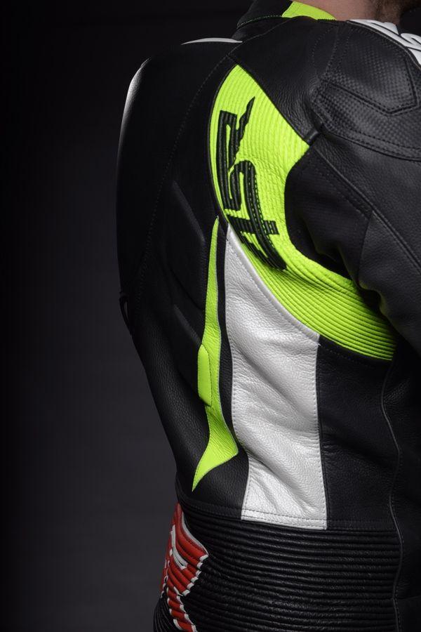 4SR leathers RR Evo Reflex Green