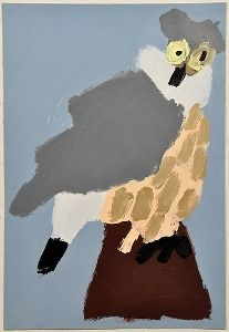 Patrick Francis - Owl 2011, acrylic on paper, courtesy Arts Project Aust