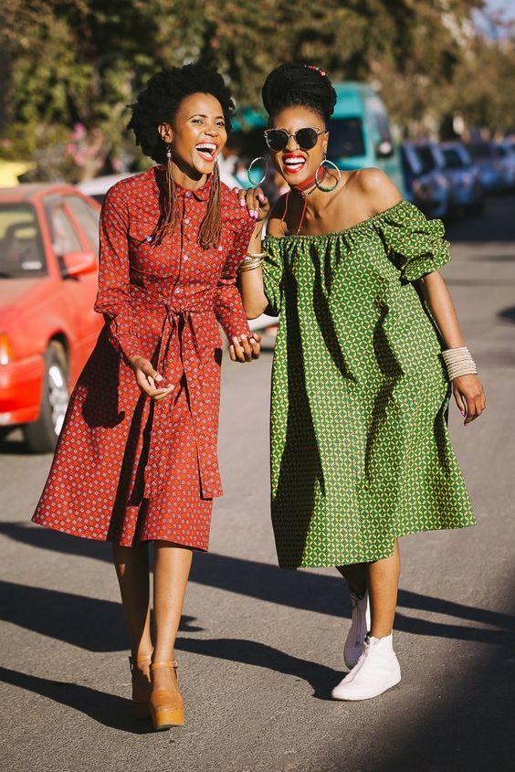 African Clothing Shweshwe Dresses 2019 Short African