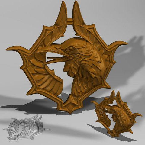 Medallion - Witcher blood of elves STL model, MakersLAB