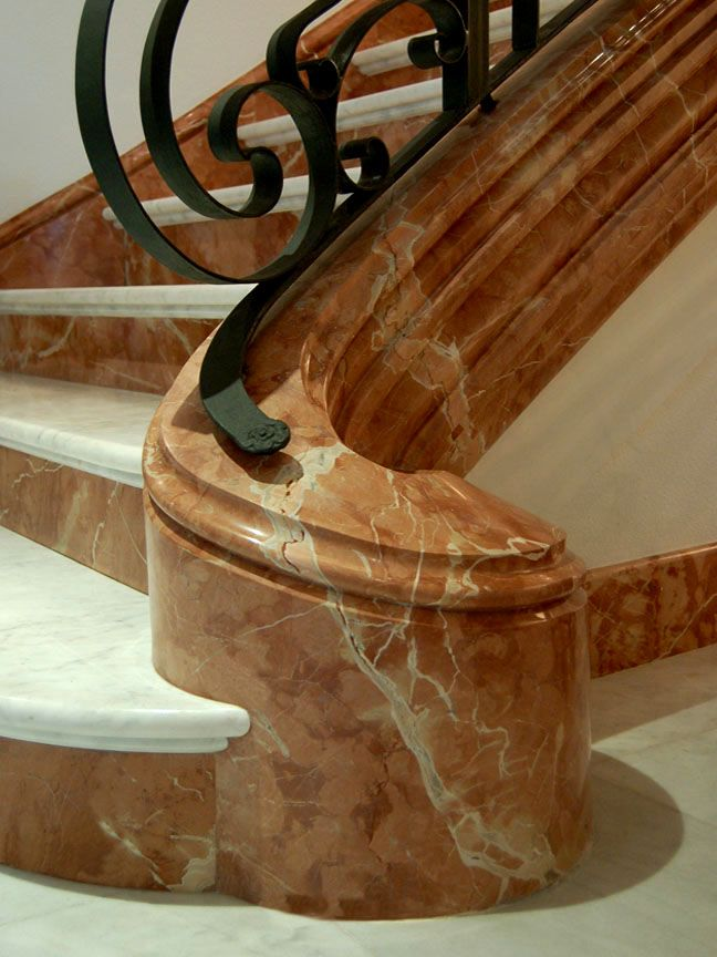 78 images about marble staircases classic design - Escaleras de piedra natural ...