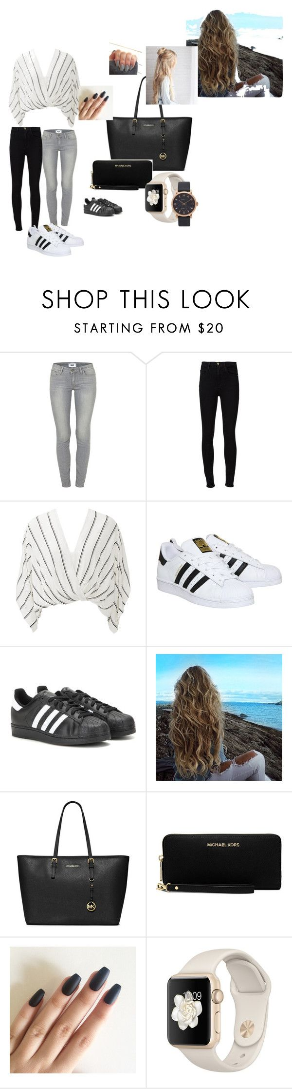 """handtas outfit a"" by alex-luxem on Polyvore featuring mode, Paige Denim, Frame Denim, Free People, adidas, MICHAEL Michael Kors en Marc Jacobs"