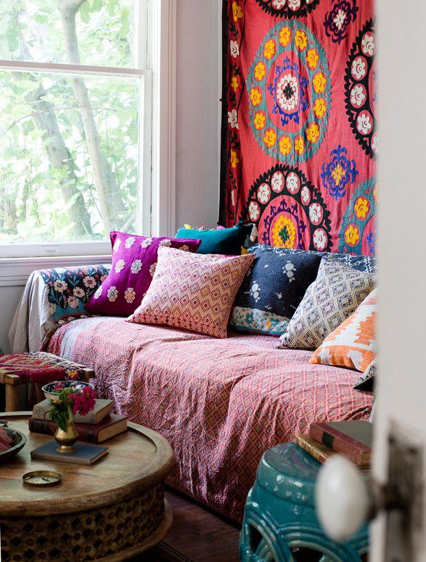 patternful fabrics make a lovely home #decor #patterns #boho #bohemian