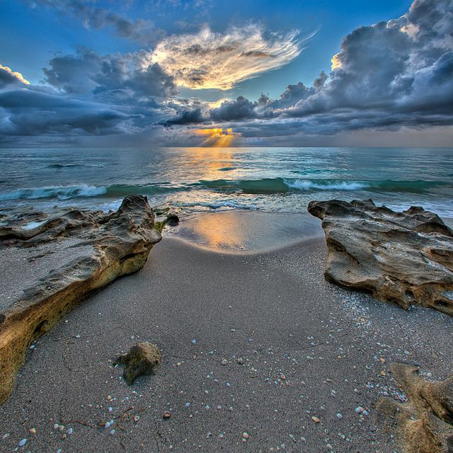 Carlin Park Sunrise at Beach - Jupiter, Florida by Captain Kimo, via Flickr