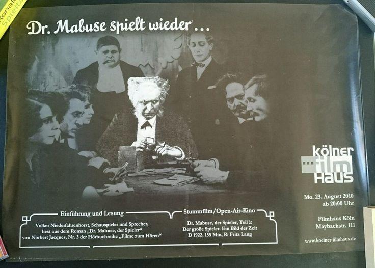 Plakat Veranstaltung Dr. Mabuse