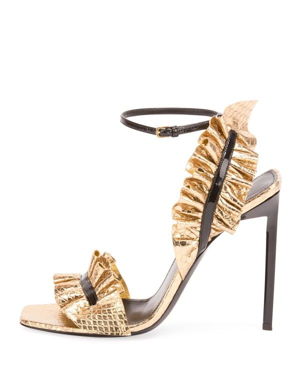 Yves Saint Laurent Woven Rose-Accented Sandals outlet for nice brand new unisex online GePPqnQR7