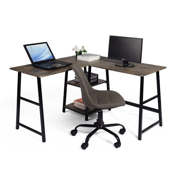 Overstock Com Online Shopping Bedding Furniture Electronics Jewelry Clothing More Corner Computer Desk Computer Desk With Shelves Carbon Loft