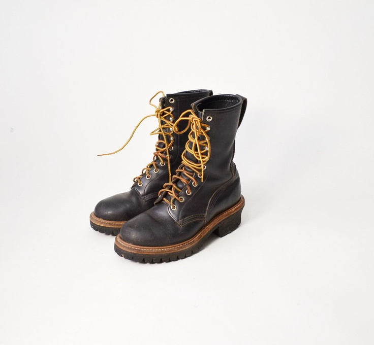 Vintage Red Wing Logger Boots in Espresso Bean