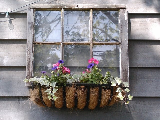 Here S My Fake Window Window Box I Made Window Box Flowers Fake Window
