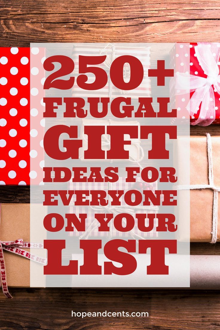 Are you looking for frugal and inexpensive gift ideas for Christmas? These ideas will help you find the perfect gift and stick to your budget. via @hopeandcents