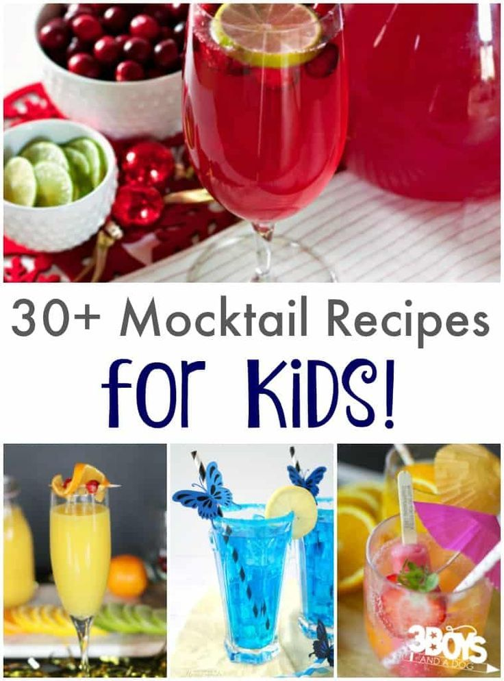 Mocktail Recipes For Kids 3 Boys And A Dog Mocktails For Kids Mocktail Recipe Kids Meals