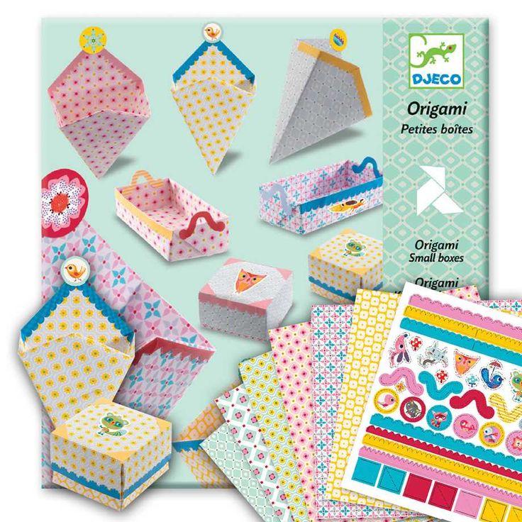 Barnpyssel - Origami, små askar