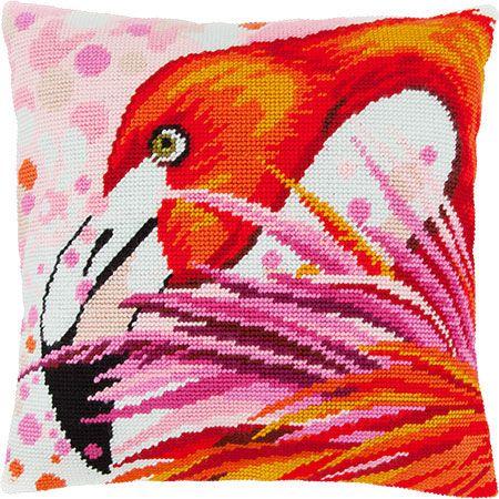 Фламинго V-154 / Чарівниця / Наборы для вышивки подушек полукрестом / Вышивание на Zinzilin.com