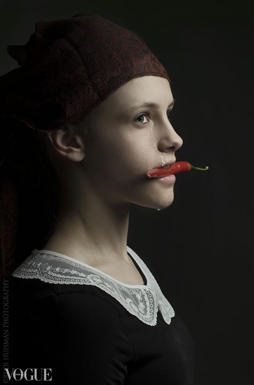 Spicy by Rudi Huisman. Photographer Rudi Huisman is creating portraits inspired and based on the golden age master painters.