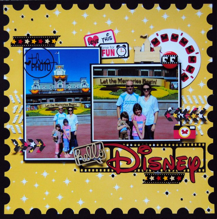 Hello Disney - Scrapbook.com - Queen and Company's Magic collection is perfect for scrapbooking a trip to Disney!