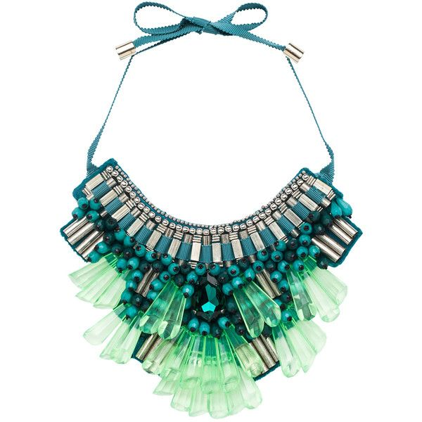 Matthew Williamson Opulent Necklace in Teal ($825) found on Polyvore