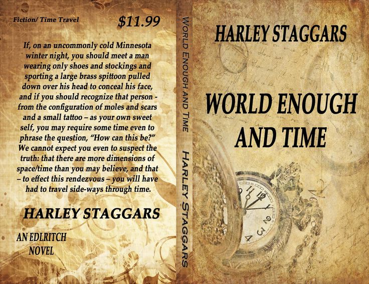 Haskell and Jennifer, in the company of her long-dead parents, travel sideways through time to experience alternate realities in different and diverging timestreams. http://earlcarlson.com/welcome-3/books/world-enough-and-time-2/#sthash.Vw3oyZaa.dpbshttp://www.amazon.com/World-Enough-Time-Harley-Staggars/dp/0692361634/ref=tmm_pap_title_0?ie=UTF8&qid=1421271060&sr=1-4