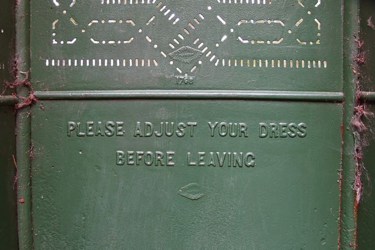 Victorian Urinal - Please adjust your dress | found on Caroline's Miscellany