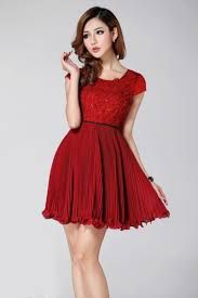 Resultado de imagen para modas de vestidos rojos juveniles