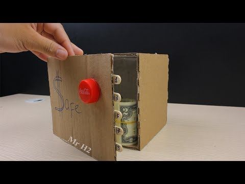 How to Make Safe with Combination Lock from Cardboard - YouTube