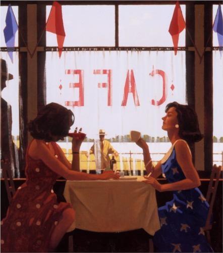 Café Days - Jack Vettriano