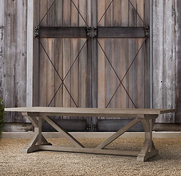 Restoration hardware table broadview deck pinterest for Restoration hardware outdoor dining