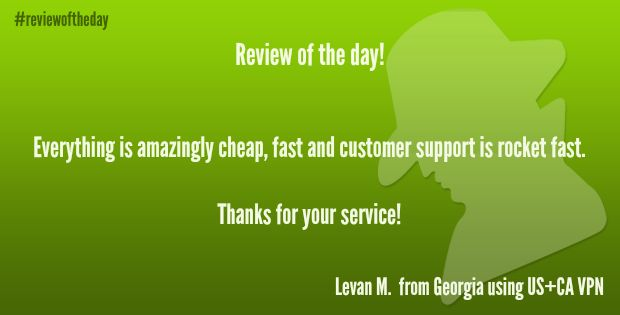 Review of the day! Feel free to add your own review and let us know what you think about our service -->> http://www.ibvpn.com/reviews/?c=all #vpn #vpnreview #ibvpn